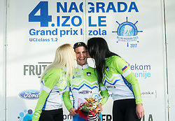 POLANC Jan (SLO)  of Slovenian National Team, winner in Intermidiate Sprints classification celebrates during trophy ceremony after the UCI Class 1.2 professional race 4th Grand Prix Izola, on February 26, 2017 in Izola / Isola, Slovenia. Photo by Vid Ponikvar / Sportida