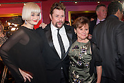 LUCY MARY BARKER; MICHAEL BALL; IMELDA STAUNTON, Party after the press night opening of 'Sweeney Todd: The Demon Barber of Fleet Street' at Adelphi Theatre, London. Floridita. Wardour St. 20 March 2012.
