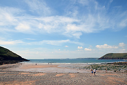 Manorbier beach, Pembrokeshire, South Wales, July 2021