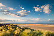 Late afternoon looking out over Holkham beach and the North Sea beyond. North Norfolk.