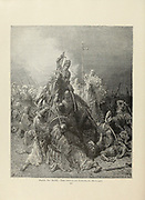 The Ottomans Penetrate Hungary Plate XCIII from the book Story of the crusades. with a magnificent gallery of one hundred full-page engravings by the world-renowned artist, Gustave Doré [Gustave Dore] by Boyd, James P. (James Penny), 1836-1910. Published in Philadelphia 1892
