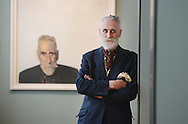 JOHN BYRNE: SITTING DUCKS<br /> 14 June – 19 October 2014<br /> SCOTTISH NATIONAL PORTRAIT GALLERY, 1 Queen Street, Edinburgh EH2 1JD<br /> <br /> Artist John Byrne standing in front of one of his self-portraits.<br /> John Byrne: Sitting Ducks will explore and celebrate Byrne's innovative and richly varied portraiture, with a selection of around 30 paintings and drawings, dating from the early 1970s to the present day.  Focussing mainly upon sitters who are close to him - his children, partners, family members, friends and colleagues - it will also feature many witty and insightful self-portraits, which are a significant element in his work.  Famous faces, including Tilda Swinton, Billy Connolly and Robbie Coltrane will be shown alongside a fascinating selection of more intimate and revealing works, which have rarely been seen in public.  <br /> <br /> <br /> <br /> Pictures by  Neil Hanna  - mobile 07702246823
