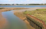River Deben landscape, Shottisham Creek sluice, Ramsholt, Suffolk, England, UK