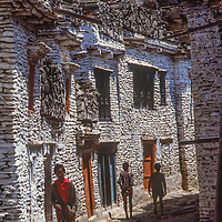 Marpha village, Nepal, located on the ancient salt trade route to Tibet.