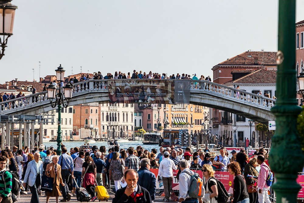 Scalzi Bridge in Venice, Italy. Swarmed by 10 of thousands of tourists everyday.
