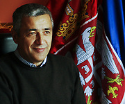 A portrait picture of assassinated Kosovo Serb politician Oliver Ivanovic. He is seen on his office in the northern, Serb-dominated part of Mitrovica, Kosovo, Saturday, Oct. 3, 2009. Ivanovic was shot and killed Tuesday, (Jan 16, 2018) morning, raising ethnic tensions in the region and halting EU-mediated talks between Kosovo and Serbia on the day they were due to resume. (Photo/ Vudi Xhymshiti)