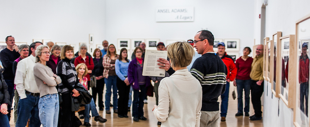 """Kenton Rowe talking about the Ansel Adams book """"Examples: The Making of 40 Photographs"""" during a 2013 lecture at the Holter Museum of Art in Helena, MT"""