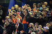 Blackpool fans watch their team in action<br /> <br /> Photographer Chris Vaughan/CameraSport<br /> <br /> The EFL Sky Bet League One - Ipswich Town v Blackpool - Saturday 23rd November 2019 - Portman Road - Ipswich<br /> <br /> World Copyright © 2019 CameraSport. All rights reserved. 43 Linden Ave. Countesthorpe. Leicester. England. LE8 5PG - Tel: +44 (0) 116 277 4147 - admin@camerasport.com - www.camerasport.com