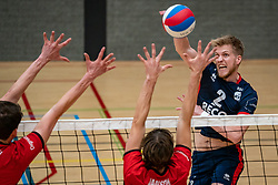 Chris van Mullem of ZVH in action during the league match ComputerPlan VCN - RECO ZVH on January 16, 2021 in Capelle aan de IJssel.