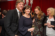 RICHARD MADDELEY; KATHRYN BLAIR;; CHERIE BLAIR;  JUDY FINNIGAN; , Pre -drinks at the St. Martin's Lane Hotel before a performance of the English National Ballet's Nutcracker: London Coliseum.12 December 2013