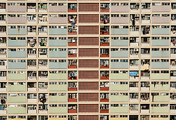 Old apartment blocks at Choi Hung in Kowloon, Hong Kong.