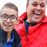NLD/Amsterdam/20150906 - Amsterdam City Swim 2015, Frans Bauer met zoon Christiaan Bauer