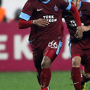 Trabzonspor's Emerson Da Donceicao during their Turkish superleague soccer derby match Trabzonspor between Galatasaray at the Avni Aker Stadium in Trabzon Turkey on Sunday, 23 December 2012. Photo by TURKPIX