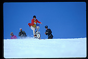 Cosmo Hulton. Dangerous Sports Club ski race. St. Moritz. 1984.<br />© Copyright Photograph by Dafydd Jones<br />66 Stockwell Park Rd. London SW9 0DA<br />Tel 0171 733 0108