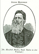 Josias Hoffman, first President of the Orange Free State.  Had to resign in 1855 for sending Moshesh a barrel of powder without permission of the Volksraad.
