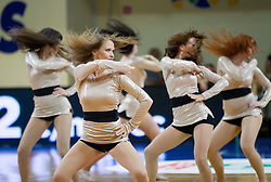 Cheerleaders Dasies during basketball match between National team of Slovenia and Italy in First Round of U20 Men European Championship Slovenia 2012, on July 12, 2012 in Domzale, Slovenia.  Slovenia defeated Italy 81-68. (Photo by Vid Ponikvar / Sportida.com)