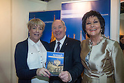 NO FEE PICTURES<br /> 23/1/16 Minister for Tourism Michael Ring and Maureen Ledwith, organiser of the Holiday World Show at the Armagh stand at the Holiday World Show at the RDS in Dublin. Picture: Arthur Carron