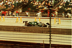 Indianapolis Time Trials, May 1987<br /> #33 Tom Sneva.<br /> <br /> A scan from an old photo or slide from the collection of Alan and Becky Look dated 1987 and 1988.