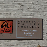 The Gibbston Valley Cheesery next to the winery in Gibbston Valley, Central Otago. The winery includes a cave which has been blasted out of the solid schist of the Central Otago mountains, and creates an ideal natural environment to mature award-winning wines, Gibbston Valley Wines,  Queenstown, Central Otago, New Zealand. 23rd March  2011. Photo Tim Clayton.
