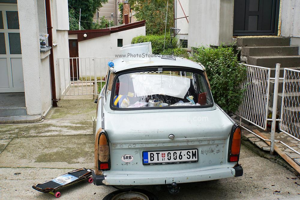 East German Trabant 601 car. Photographed in Belgrade, Serbia