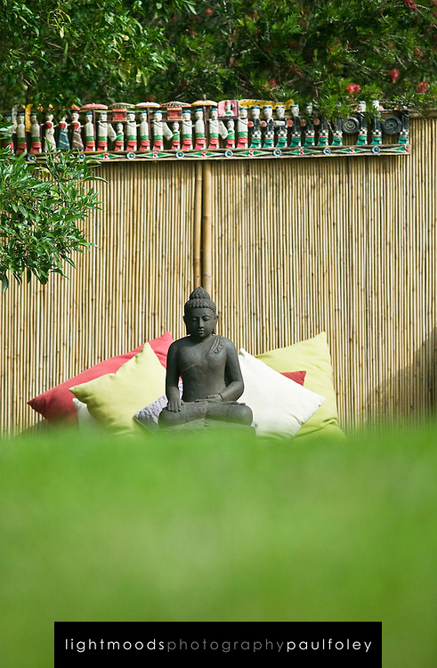 Buddah on outdoor meditation platform
