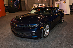 CHARLOTTE, NORTH CAROLINA - NOVEMBER 20, 2014: Chevrolet Camaro on display during the 2014 Charlotte International Auto Show at the Charlotte Convention Center.