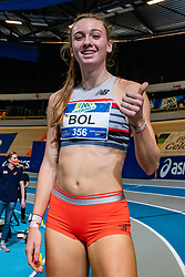 Femke Bol win the 400 meter during AA Drink Dutch Athletics Championship Indoor on 21 February 2021 in Apeldoorn.