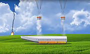 """This Plane Can Detach Its Cabin In Case Of Emergency<br /> <br /> What if we could survive a plane crash? Ukrainian aviation engineer Vladimir Tatarenko has been working 3 years to find a way. And he did. He invented a detachable plane cabin which can be ejected within the seconds in case of emergency.<br /> The cabin can land both on ground and water. It has parachutes attached to its roof and inflatable rubber tubes to keep it afloat if needed. """"Surviving in a plane crash is possible,"""" Vladimir Tatarenko told LiveLeak. """"While aircraft engineers all over the world are trying to make planes safer, they can do nothing about the human factor.""""<br /> Of course, if the plane explodes or is under a rocket attack, it wouldn't help. Also, some argue that the detachable cabin could undermine the structural integrity of the plane. Finally, what about the pilots..?<br /> <br /> Photo shows: Inflatable rubber tubes can also keep the cabin afloat if needed<br /> ©Exclusivepix Media"""