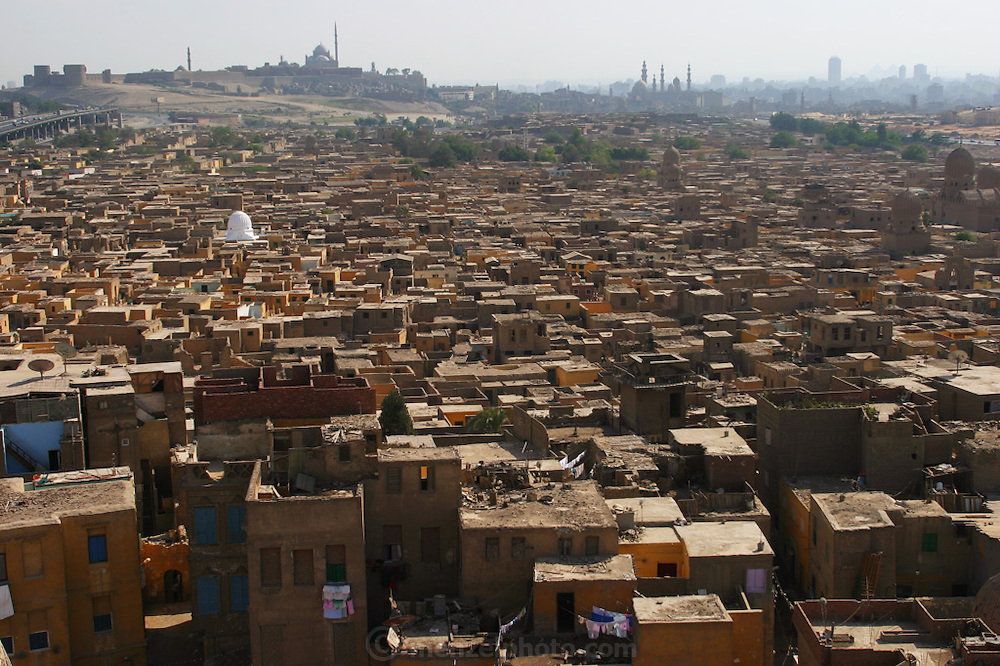 Old Islamic section of Cairo, Egypt, including part of the city of the dead.