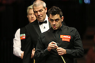 Ronnie O'Sullivan (Eng) looking on. Ronnie O'Sullivan (Eng) v Neil Robertson (Aus), Quarter-Final match at the Dafabet Masters Snooker 2017, at Alexandra Palace in London on Thursday 19th January 2017.<br /> pic by John Patrick Fletcher, Andrew Orchard sports photography.