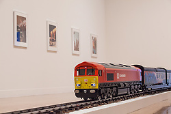© Licensed to London News Pictures. 26/09/2016. London, UK. 'The New Media Express in a Temporary Siding (Baby Wants to Ride)' by Josephine Pryde on display at Tate Britain as part of the Turner Prize exhibition. Michael Dean, Anthea Hamilton and Helen Marten are also shortlisted for the Turner Prize 2016, one of the most prestigious prizes in contemporary British art. Photo credit: Rob Pinney/LNP