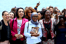 May 25, 2017 - Taormina, Italy - Demonstration organized by the Ngo Action Aid for the campaign 'Oper your ears'' directed to the G7 leaders at Taormina, Italy on May 25, 2017...Leaders of the G7 group of nations, which includes the Unted States, Canada, Japan, the United Kingdom, Germany, France and Italy, as well as the European Union, will meet at nearby Taormina from May 26-27. (Credit Image: © Matteo Ciambelli/NurPhoto via ZUMA Press)