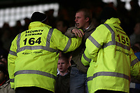 Photo: Alex Pelaez.<br /> Crystal Palace v Luton Town. Coca Cola Championship. 24/02/2007.<br /> Luton fan argues with Stewart