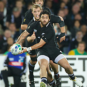 Piri Weepu, New Zealand, in action during the New Zealand V Australia Semi Final match at the IRB Rugby World Cup tournament, Eden Park, Auckland, New Zealand, 16th October 2011. Photo Tim Clayton...