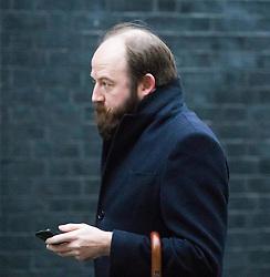 Downing Street, London, January 31 2017. Strategic advisor Nick Timothy arrives at 10 Downing Street