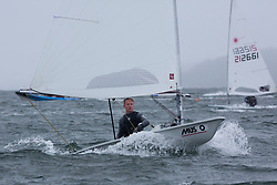 The annual RYA Youth National Championships is the UK's premier youth racing event. Day 3 with winds backing to the North the racing started on the Largs Channel.<br /> <br /> 210560, Jordan Giles, Royal Lymington Yacht Club, Laser Standard <br /> <br /> Images: Marc Turner / RYA<br /> <br /> For further information contact:<br /> <br /> Richard Aspland, <br /> RYA Racing Communications Officer (on site)<br /> E: richard.aspland@rya.org.uk<br /> m: 07469 854599