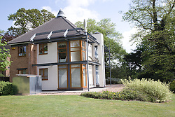 The David Wilson Millennium Ecohouse; at the University of Nottingham; used for research into domesticsized renewable energy systems,
