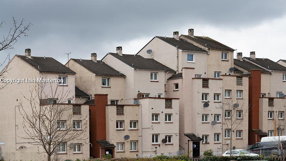 Social housing estate at Wester Hailes in Edinburgh, Scotland, UK