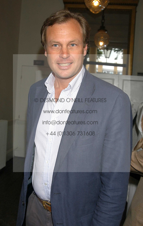 The MARQUESS OF MILFORD HAVEN at the Tatler Summer Party in association with Moschino at Home House, 20 Portman Square, London W1 on 29th June 2005.<br />