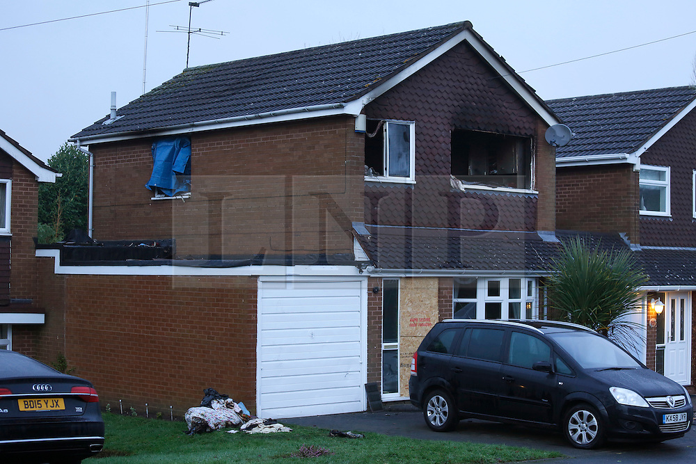 © Licensed to London News Pictures. 06/01/2016. Wolverhampton, UK. The scene in Rylands Drive, Wolverhampton where a man has died in a house explosion. Photo credit : Dave Warren/LNP