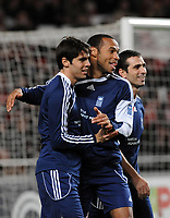 20100125: LISBON, PORTUGAL - 7th Charity Football Match against Poverty: SL Benfica All Stars vs Zidane & Kaka Friends. All the money rose from ticket sales and donations will go to the victims of Haiti Earthquake. In picture: Kaka, Tierry Henry. PHOTO: Alvaro Isidoro/CITYFILES