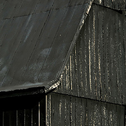Loretto, KY - A typical Kentucky black barn with black fence outside Loretto, Kentucky.  The barns are painted black to insulate them from the heat...Photo © Susana Raab 2007