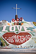 Photo Randy Vanderveen.Salvation Mountain near Niland California.Salvation Mountain near Niland, CA, is a large work of folk art that is visible for miles and is located near Slab City.