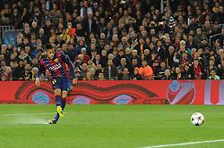 Barcelona's Neymar takes a shot at goal. - Photo mandatory by-line: Dougie Allward/JMP - Mobile: 07966 386802 - 18/03/2015 - SPORT - Football - Barcelona - Nou Camp - Barcelona v Manchester City - UEFA Champions League - Round 16 - Second Leg