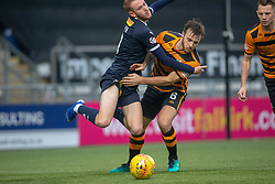 Falkirk's Zak Rubben and Alloa Athletic's Steven Hetherington. Falkirk 1 v 2 Alloa Athletic, Scottish Championship game played 6/4/2019 at The Falkirk Stadium.