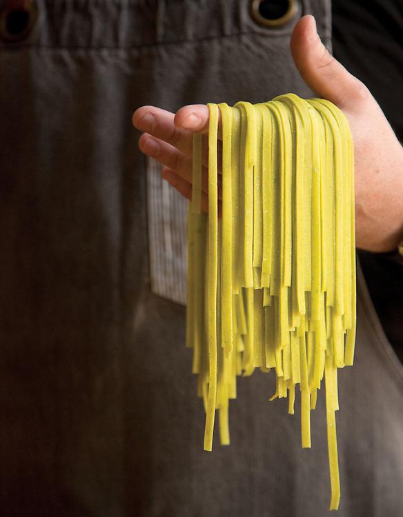 Pea pasta at Veritas in Delaware. (Will Shilling/Crave)