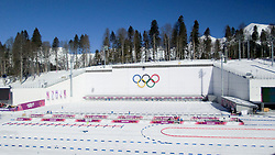 Biathlon course at Winter Olympic Games Sochi 2014 on February 6, 2014 in Sochi, Russia. Photo by Sportida