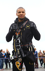 Chris Eubank Jnr. after abseiling from the British Airways i360 in Brighton during the iDrop charity abseil to raise money for Rockinghorse, the fundraising arm of the Royal Alexandra ChildrenÕs Hospital.