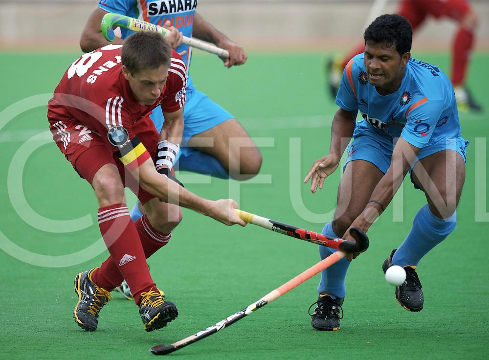 MELBOURNE - Champions Trophy men 2012<br /> India v Belgium 1-0<br /> foto: Jerome Truyens.<br /> FFU PRESS AGENCY COPYRIGHT FRANK UIJLENBROEK