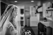 A bride prior to the wedding ceremony held in Franklin Lakes, New Jersey.